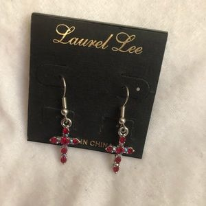 New cross earrings